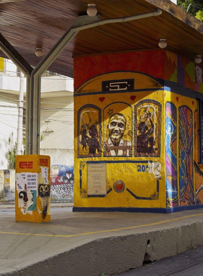 圣诞老人特里萨电车在里约 库存图片