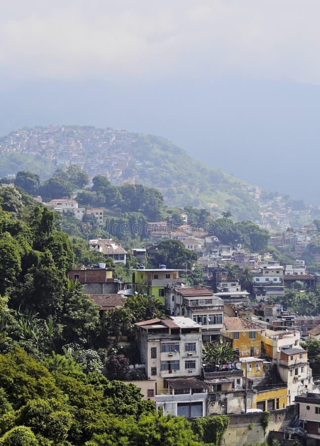 圣诞老人特里萨邻里在里约 免版税图库摄影