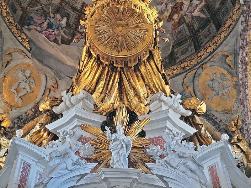 圣诞老人玛雅de拿撒勒或切萨degli Scalzi教会在威尼斯 库存图片
