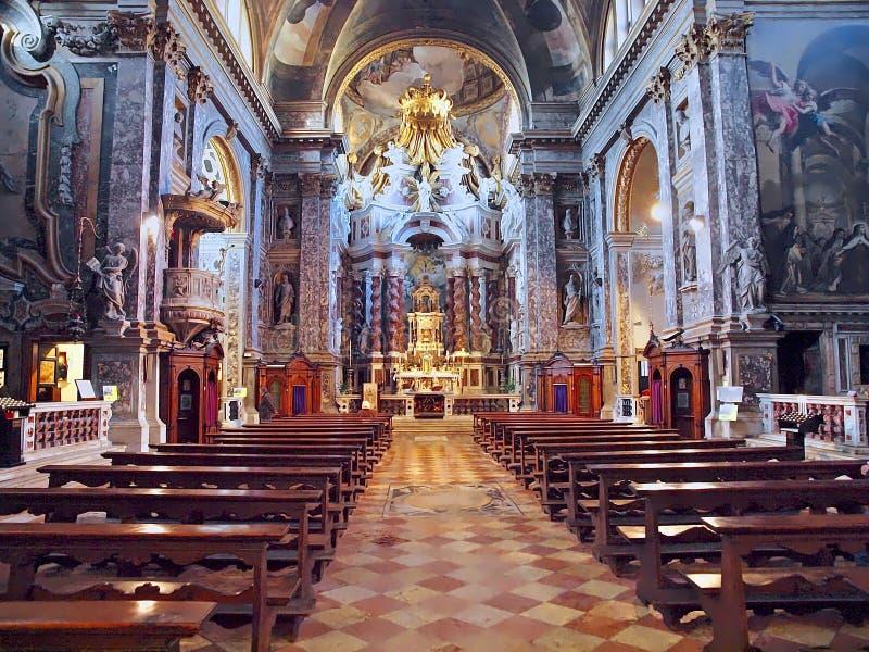 圣诞老人玛雅de拿撒勒或切萨degli Scalzi教会在威尼斯 免版税库存图片