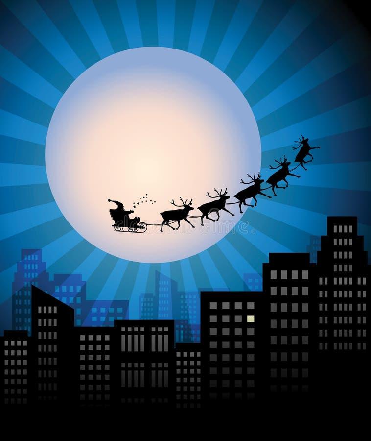 圣诞老人的雪橇 向量例证