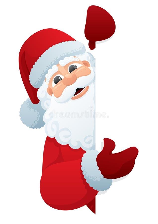圣诞老人符号 向量例证