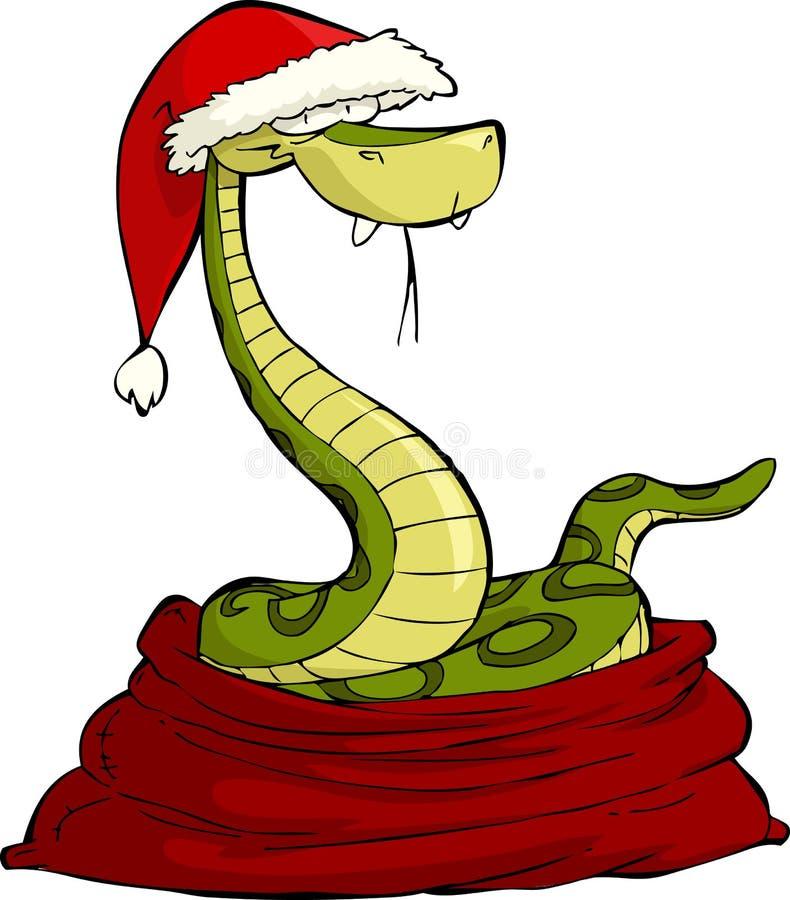 圣诞老人蛇 向量例证