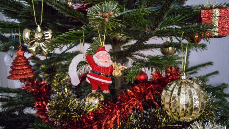 圣诞老人装饰 免版税库存照片