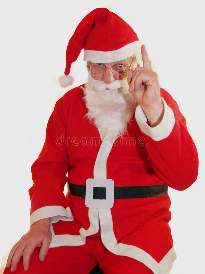 圣诞老人警告 免版税库存图片