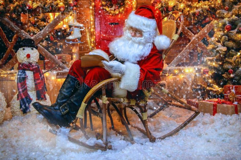 圣诞老人议院 图库摄影