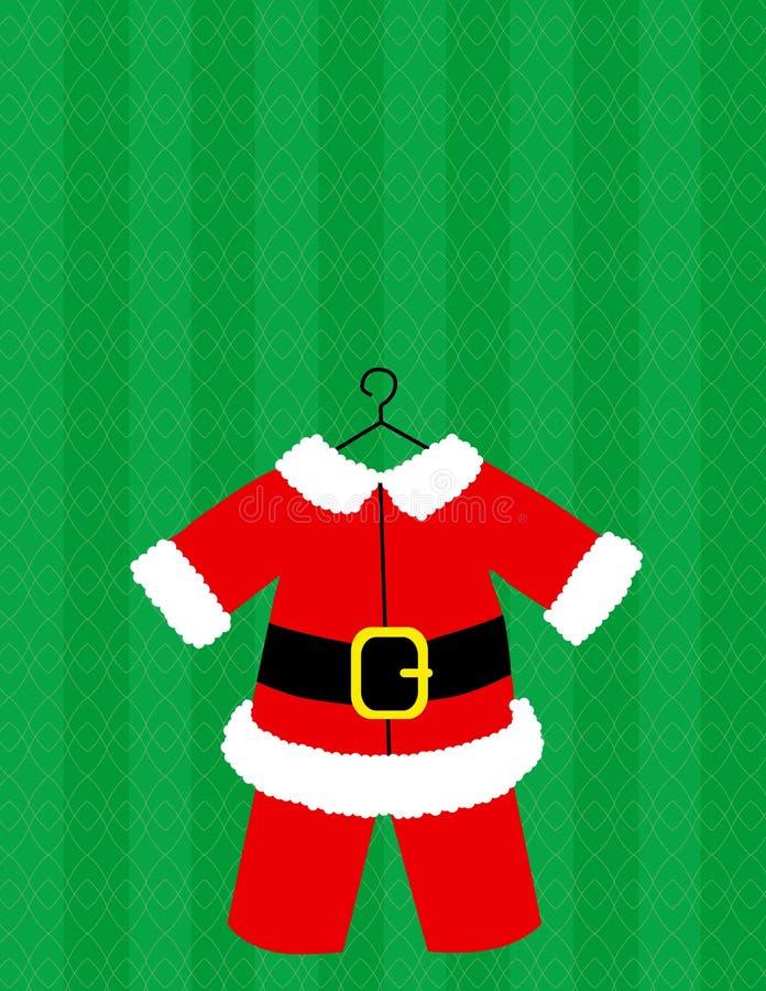 圣诞老人诉讼向量 向量例证