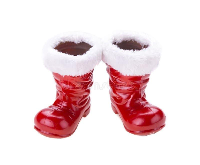圣诞老人起动 免版税库存照片