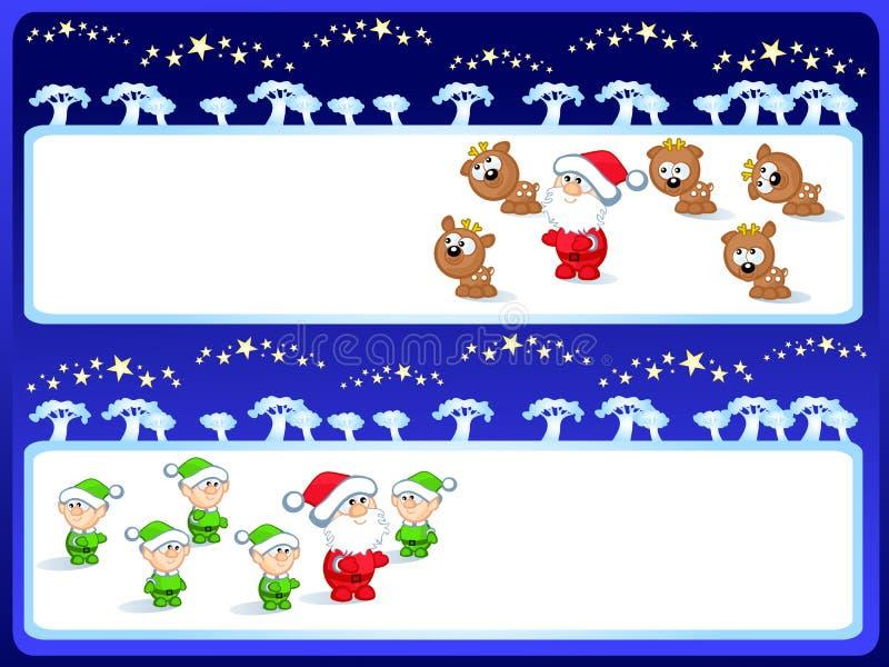 圣诞老人集 向量例证