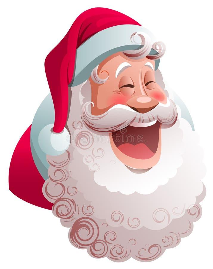 圣诞老人项目广泛微笑着 愉快的圣诞快乐字符 向量例证