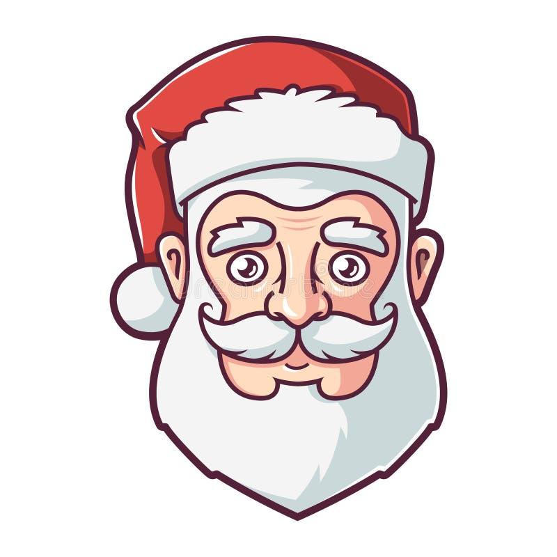 圣诞老人项目的面孔在红色帽子的 皇族释放例证