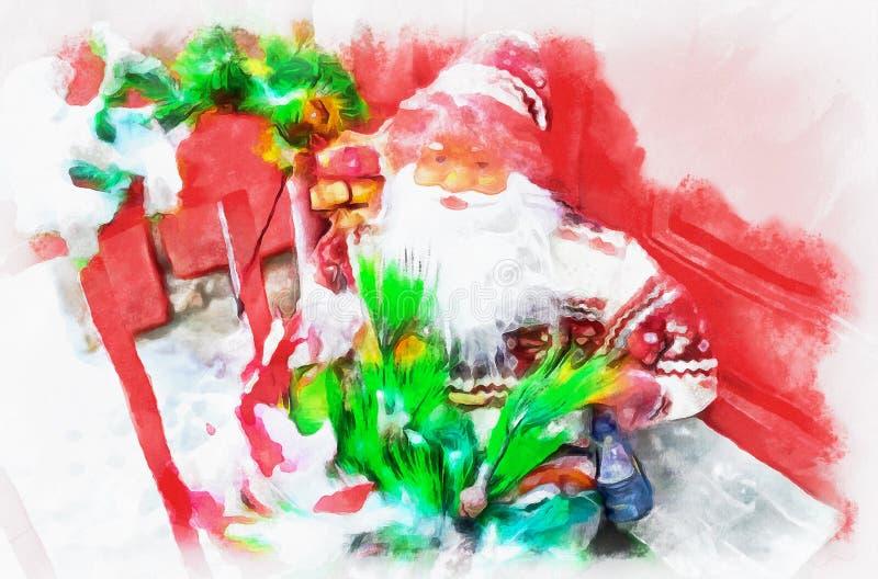 圣诞老人项目,摘要 库存例证