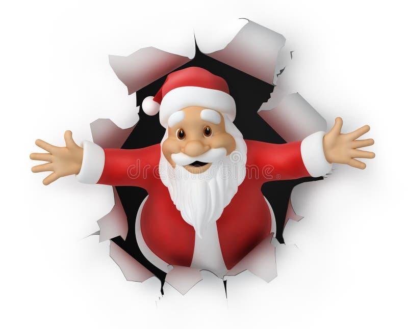 圣诞老人 向量例证