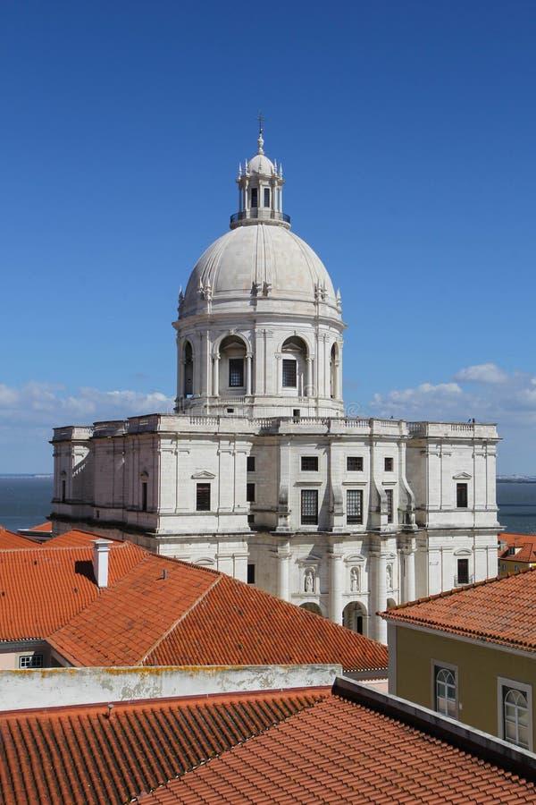 圣诞老人Engracia全国万神殿教会在里斯本,葡萄牙 免版税库存照片