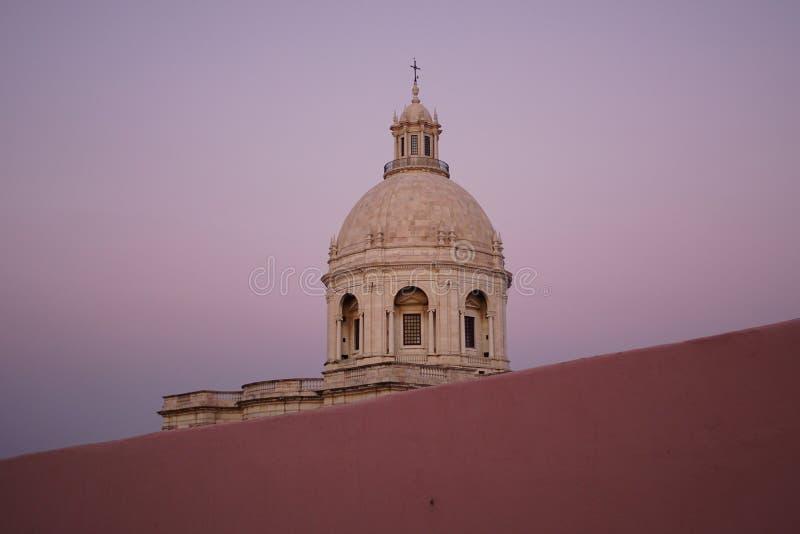 圣诞老人Engracia教会或全国万神殿在里斯本 库存图片