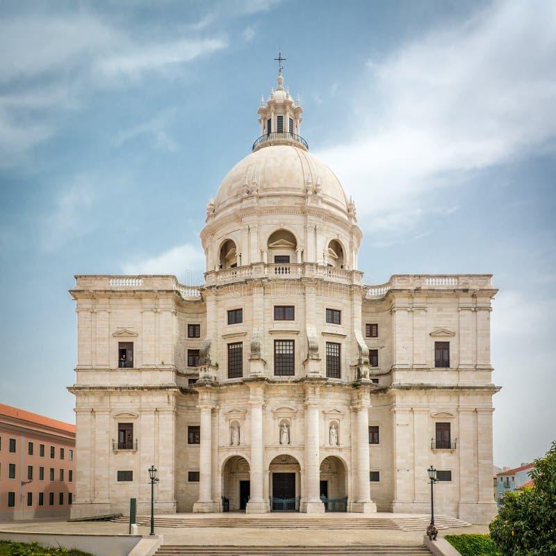 圣诞老人Engracia教会或者全国万神殿在里斯本,葡萄牙 免版税库存图片