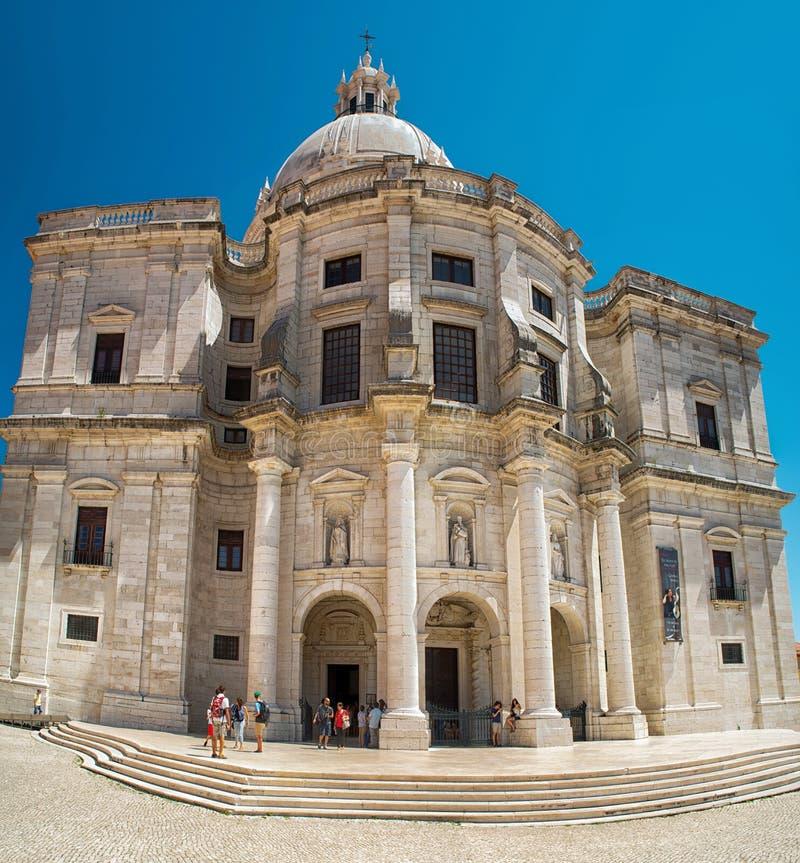 圣诞老人Engracia -全国万神殿教会在里斯本,葡萄牙 库存照片