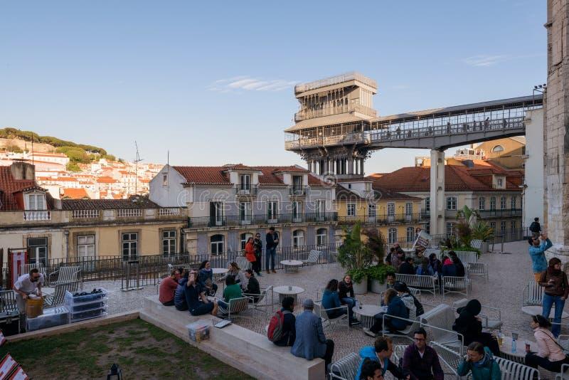 圣诞老人Justa推力,里斯本,葡萄牙 免版税库存图片
