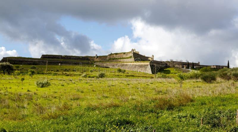 圣诞老人Luzia堡垒在Elvas 免版税库存图片