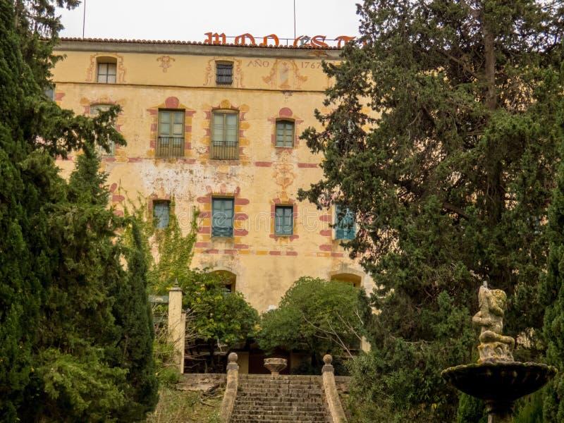 圣诞老人MarAaa de Aguas维瓦斯修道院  库存图片