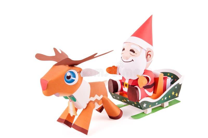 圣诞老人papercraft 库存例证