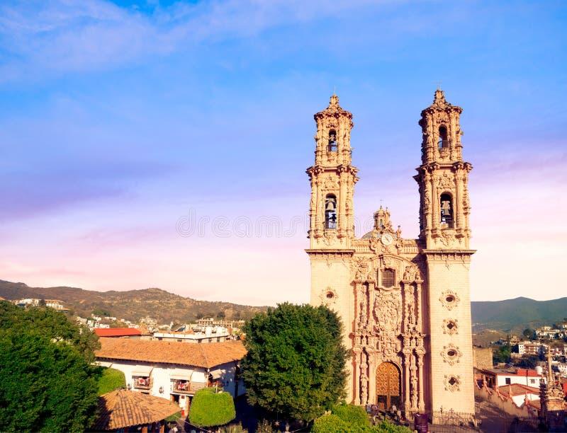 圣诞老人Prisca教会在Taxco,墨西哥 库存图片
