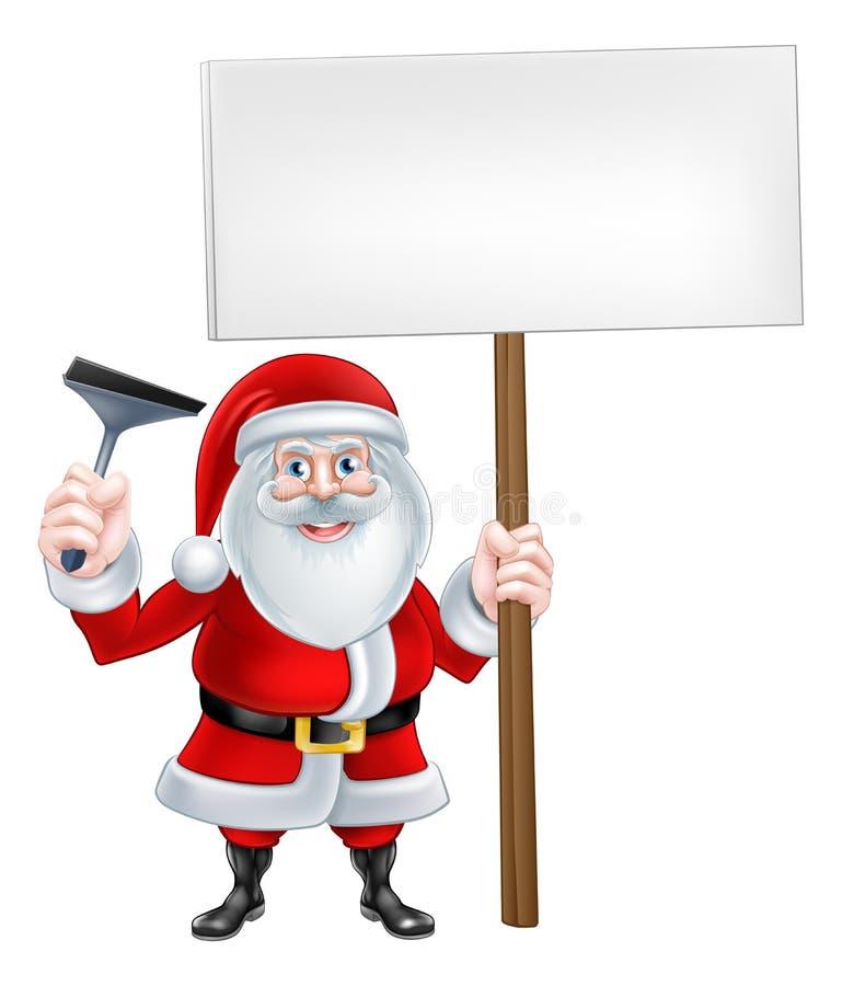 圣诞老人Sqeegee标志 皇族释放例证