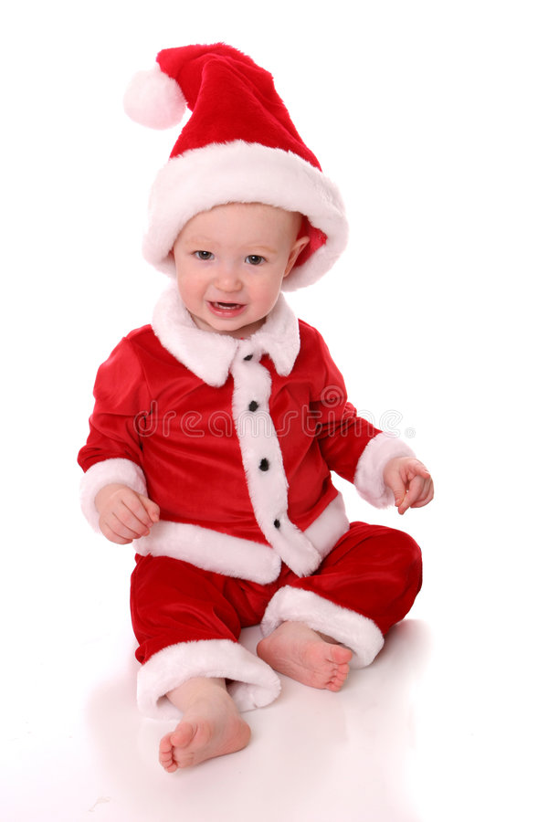 圣诞老人suit1 免版税库存图片