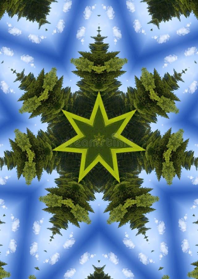 圣诞节万花筒结构树 库存例证
