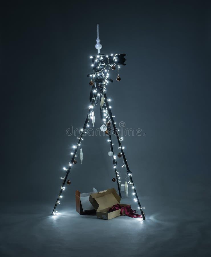 圣诞节三脚架 库存照片