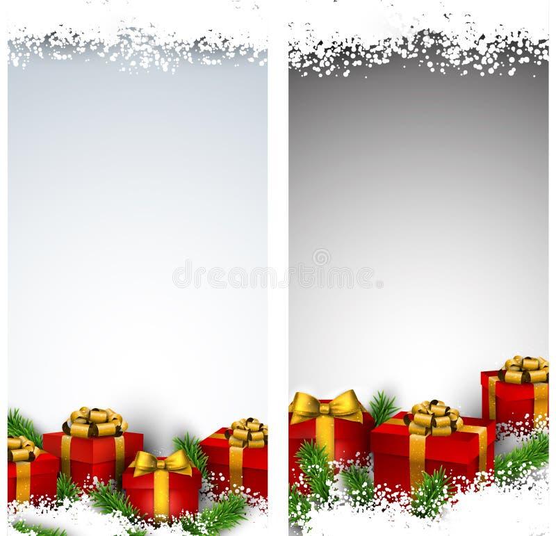 Download 圣诞节与礼物盒的条纹横幅 向量例证. 插画 包括有 数据条, 存在, 财务资助, 季节, 节假日, 红色 - 62539037