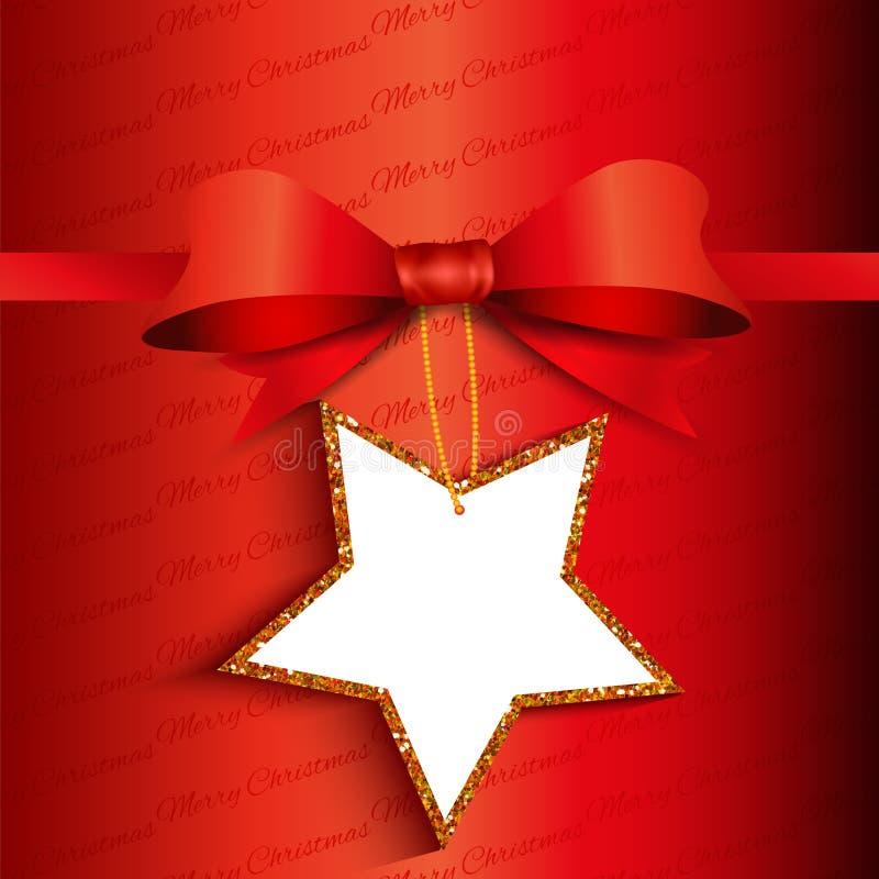 圣诞节与闪光标签的礼物背景 向量例证