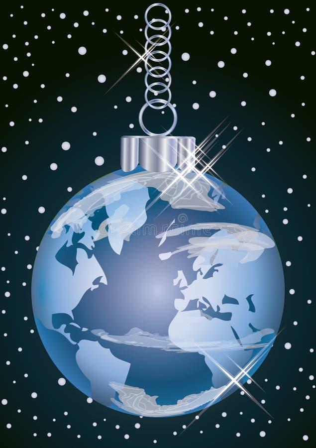 圣诞节世界欢乐球,传染媒介 库存例证