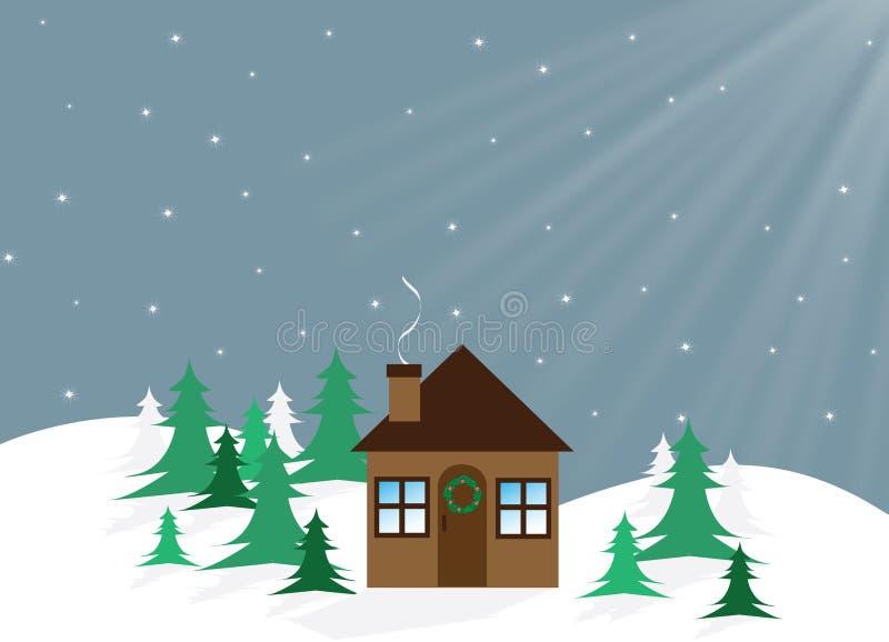 圣诞节之家 免版税库存图片