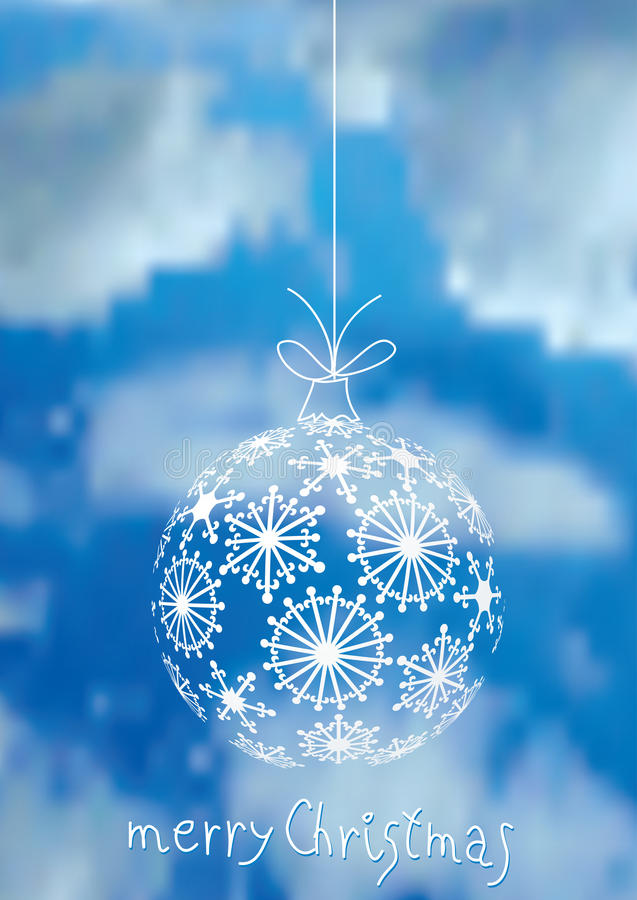 圣诞节云彩 向量例证