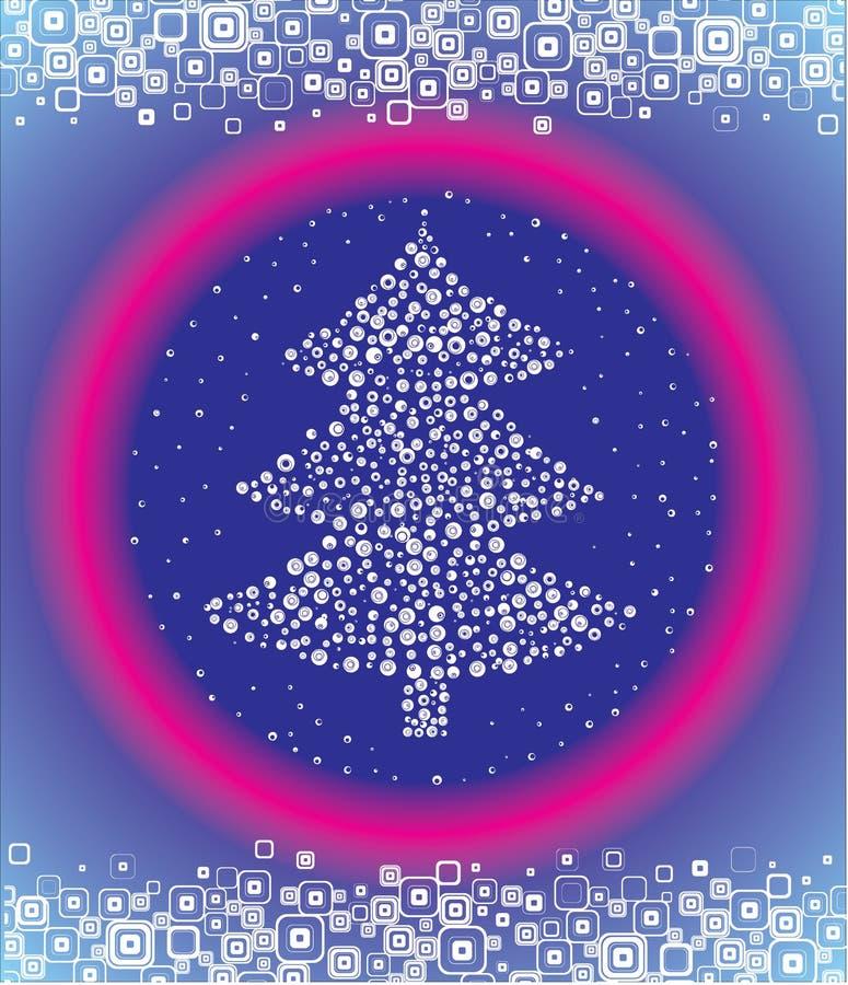 圣诞节云杉的向量 库存例证