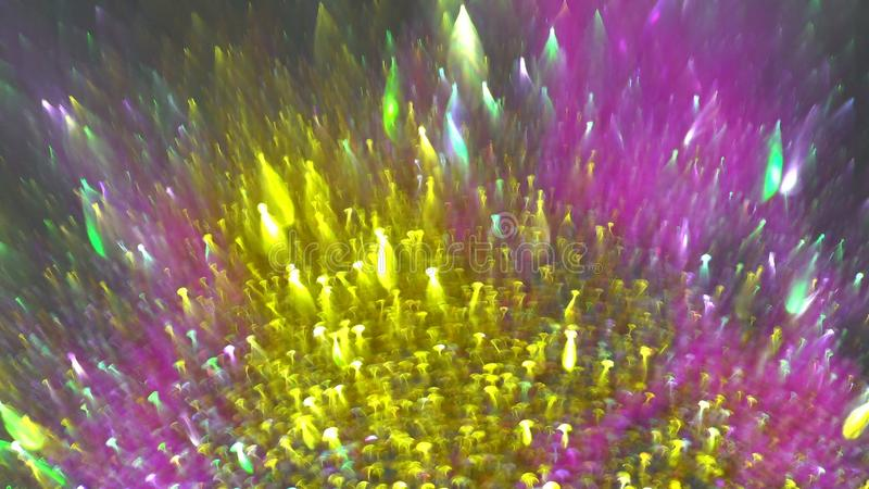 圣诞节五颜六色的光抽象圆bokeh背景视图  免版税库存照片