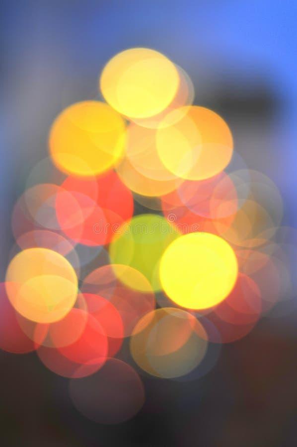圣诞节五颜六色的光结构树 库存图片