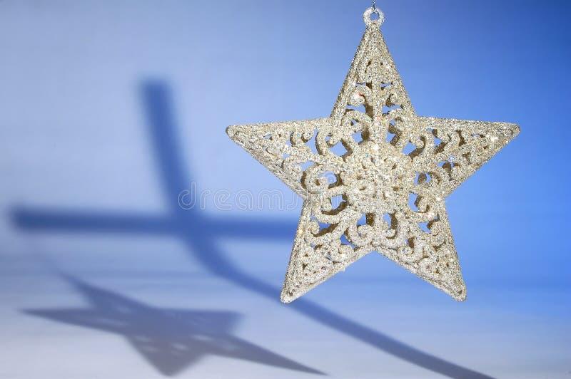 圣诞节交叉星形 库存图片