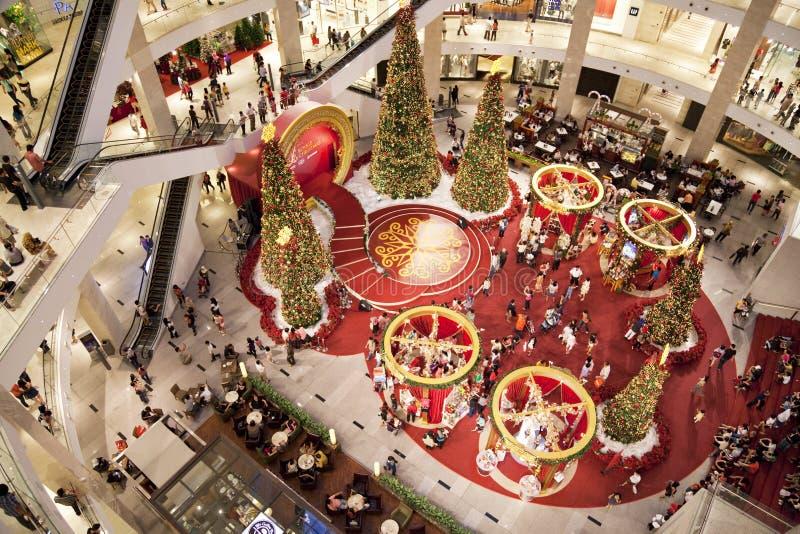 圣诞节人群购物 图库摄影