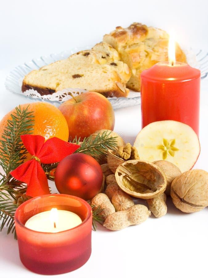 圣诞节仍然食物生活 免版税库存图片