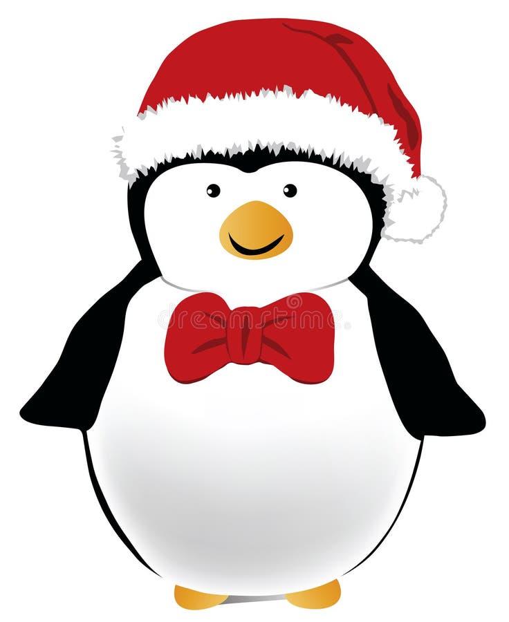 圣诞节企鹅 皇族释放例证