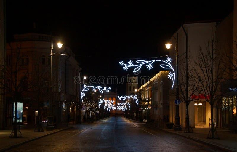 圣诞节传说的时期, Gediminas大道 库存照片
