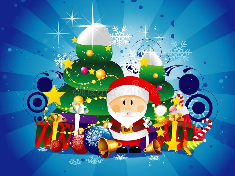圣诞节例证圣诞老人 库存例证