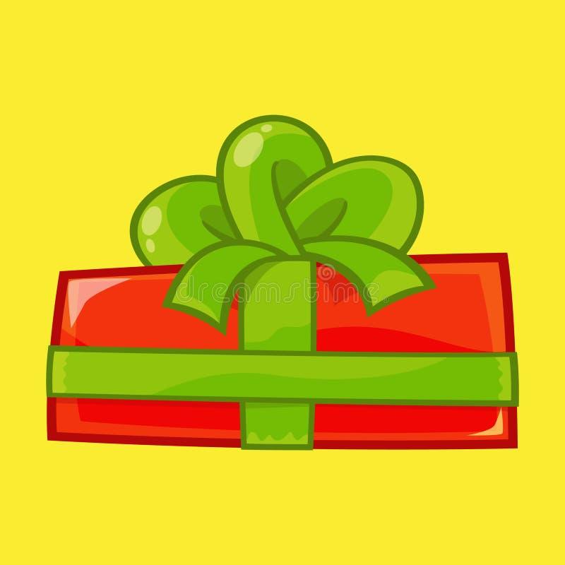 圣诞节例证的礼物盒 免版税库存图片