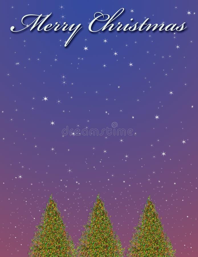 圣诞节例证结构树 库存例证