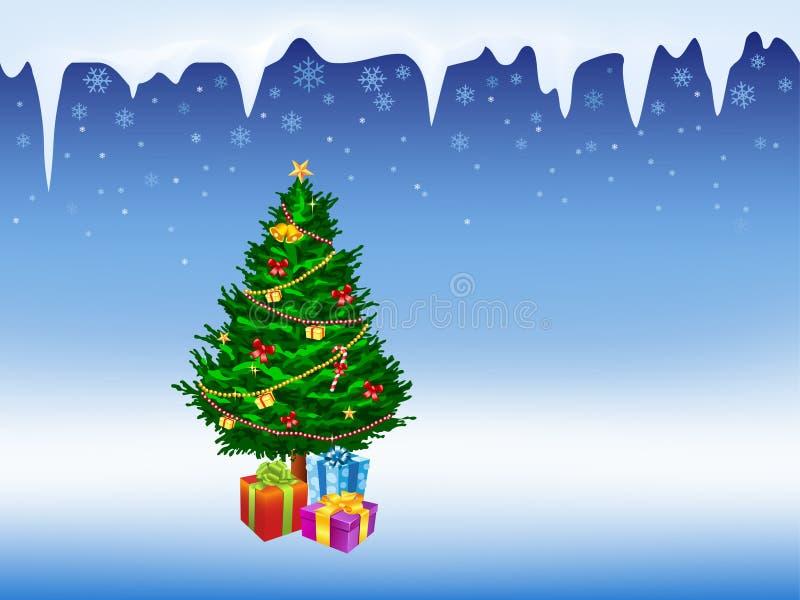 圣诞节例证结构树 向量例证