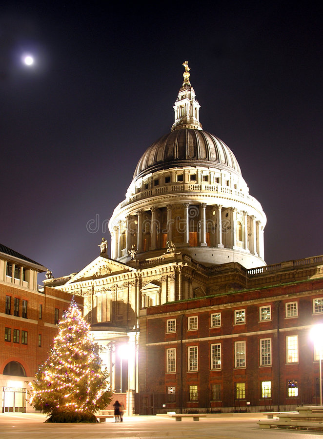 圣诞节保罗s st结构树 免版税库存图片