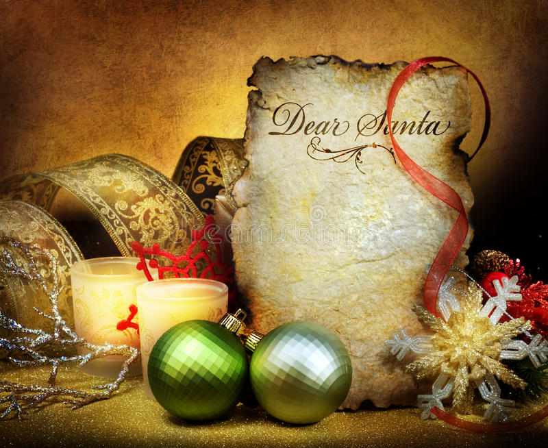 圣诞节信函圣诞老人 图库摄影