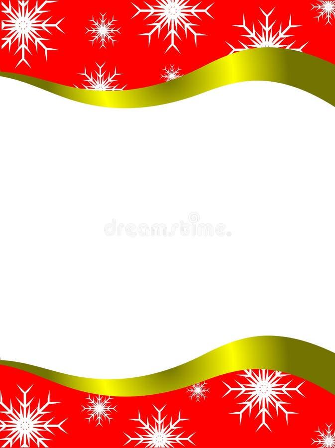 圣诞节信函模板 向量例证